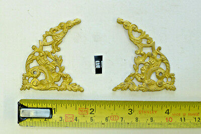 e) PAIR ARCH CLOCK SPANDRELS Cast Yellow Brass Lantern/Bracket/Hooded