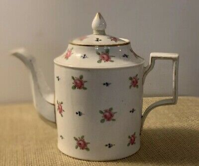 French Continental Rose & Sprig 18th Century Teapot