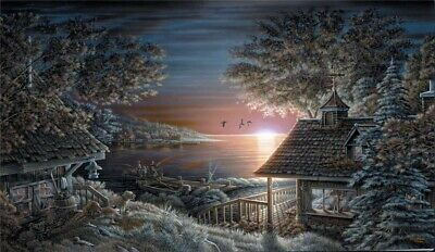 Terry Redlin Sunset Retreat HD Print Art Home Decor Oil Painting on Canvas 12x20