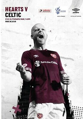 Heart of Midlothian v Celtic 2018/19 new football programme