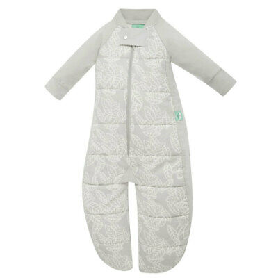 ErgoPouch Sleep Suit Bag 2.5TOG Organic Cotton 2-4y Baby Rainforest Leaves Grey