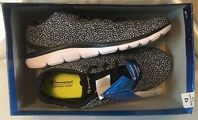 0f317f62a39 Champion Womens Size 12 Memory Foam Tennis Shoes Sneakers Knit New In Box