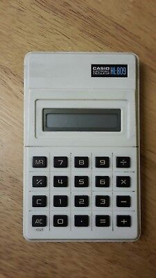 Calculator - Hand Held CASIO HL-809 ELECTRONIC