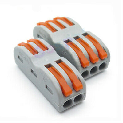 4/6 way Spring Lever Electric Terminal Block Fast Wire Cable RF LED Connector