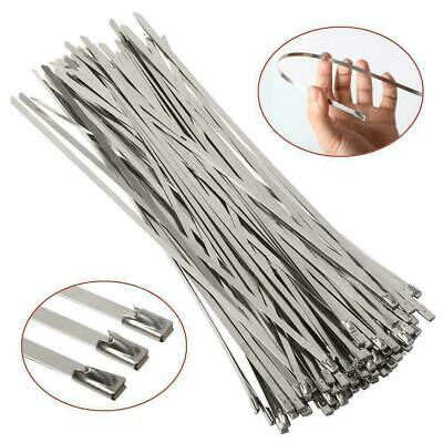 100Pcs Stainless Steel Marine Grade Metal Cable Ties Zip Tie Locking Wire