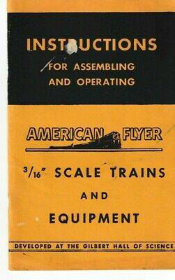"Instructions For Assembling & Operating American Flyer 3/16"" Scale Trains (FLTZ)"