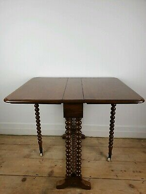Antique Victorian Mahogany Bobbin Leg Sutherland Table