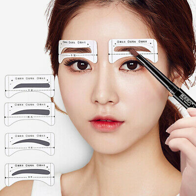Grooming Brow Model Eyebrows Template Card Eyebrows Makeup Assistant Card Set