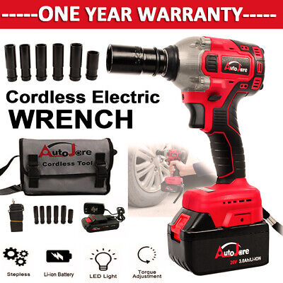W/ battery&charger New cordless impact wrench 1/2 inch 3000mAh 18V20V Brushless