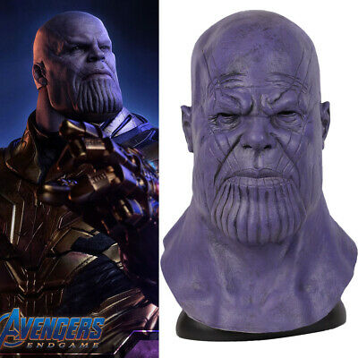 2019 Movie Avengers 4 Endgame Thanos Cosplay Masks Latex Adult Props Halloween