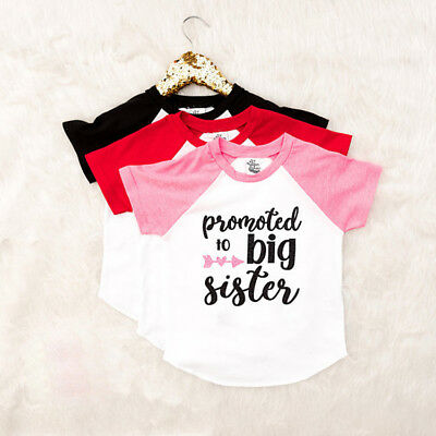 d9910091 Promoted to big sister - Toddler Baby Girl Summer T-shirt Casual Cotton Tee  Tops
