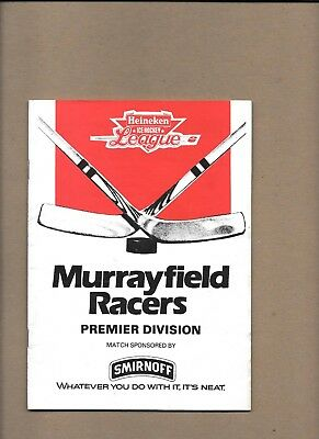 Murrayfield Racers v Fife Flyers Programme  22nd September 1985