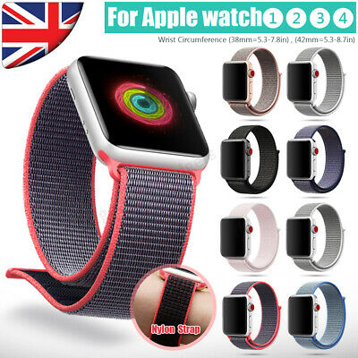 Nylon Woven Sport Loop Strap Band For Apple Watch Series 4/3/2/1 38/40mm 42/44mm