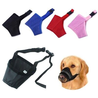 Dog Safety Muzzle Adjustable Biting Barking Chewing Small Medium Large Mesh UK