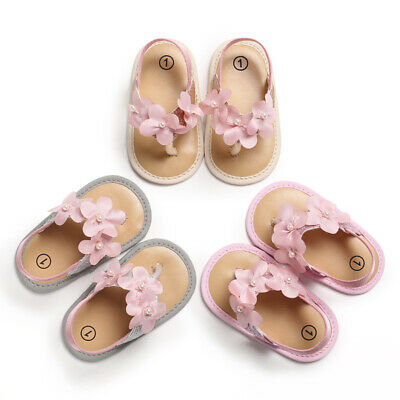 Baby Infant Kids Girl Summer Soft Sole Crib Toddler Shoes Anti-slip 0-18 Months