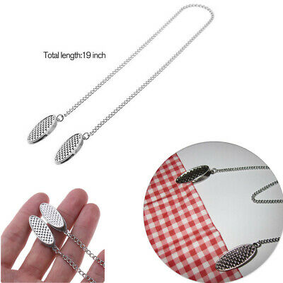Silver 19inch Towel Apron Napkin Bib Chain Clip Holders for Safe Napkin Placed