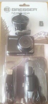 Bresser BNIB REDUCED blackfull HD1080p Dash Cam with LCD screen-Camcorder-RRP£90