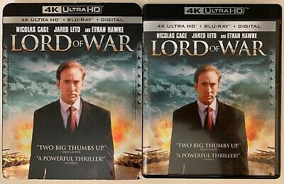 Lord Of War 4K Ultra Hd Blu Ray 2 Disc Set + Slipcover Sleeve Free World Shippin