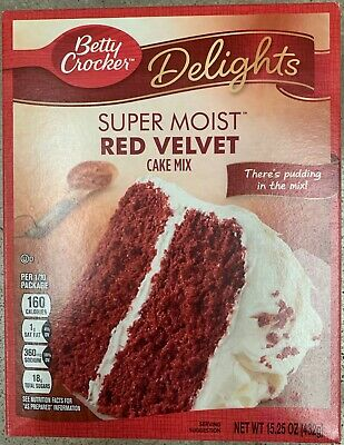 New Betty Crocker Delights Super Moist Red Velvet Cake Mix 15.25 Oz Box Freeship