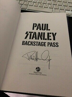 Paul Stanley Backstage Pass Book Signed Autographed