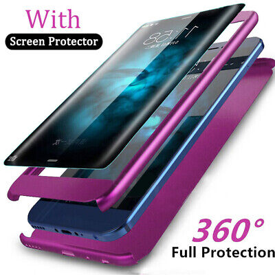 360° Full Protective Armor Case for Samsung Galaxy A30 A50/M10 M20 Cover+9h Film