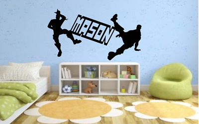 Large 115cm game Fort PS4 Nite XBox dance wall sticker boys bedroom decal name