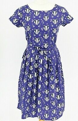 WOMENS RUN& FLY Indie Retro Vintage 50's style tea dress with multi badger print