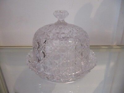 cloche à fromage & plateau cristal baccarat pierreries crystal cheese cover