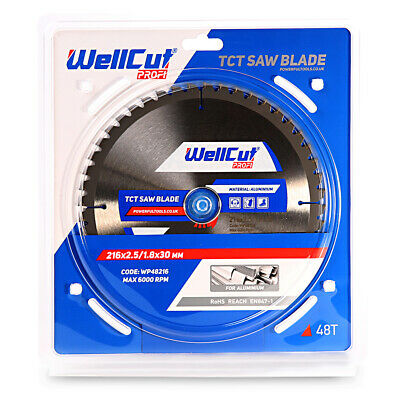 TCT Saw Blade Aluminum 216mm x 48T x 30mm Bore Suitable For DWS774, LS0815