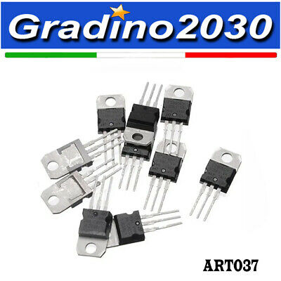 10x  L7805CV LM7805 Regolatori di Tensione 5 V, 1,5A - Voltage Regulator