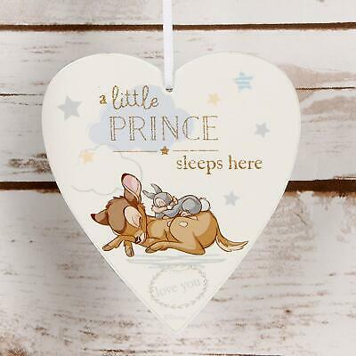 OFFICIAL Disney Magical Beginnings Bambi Heart Shaped Hanging Plaque (NEW)