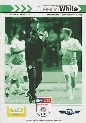 * 2018/19 - YEOVIL TOWN v CARLISLE UNITED (LAST GAME IN LEAGUE - 4th May 2019) *