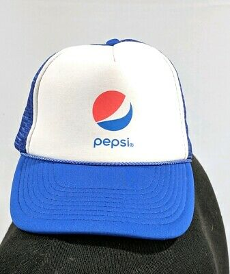 6932e4f305dfe Vintage Pepsi Cola Trucker Hat Mesh Snapback Urban Grunge Gear New old stock