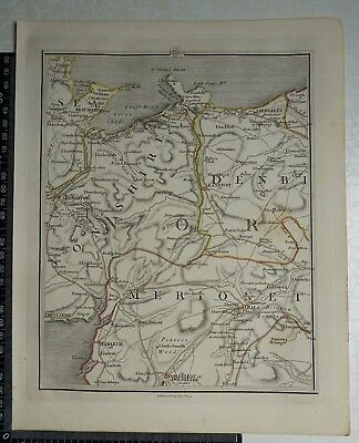 1794 - John Cary Map 39 - Parts of Anglesey,Caernarvonshre,Denbigh,Merionthshire