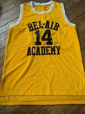 Fresh Prince of Bel Air Will Smith 14 Bel Air Academy Basketball Jersey Small S