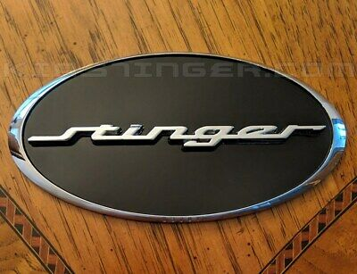 Oval STINGER Emblem Front and/or Rear - HEAVY DUTY - for Kia Stinger 2018+