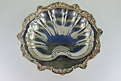 Vintage Old English Silver Plate by Poole No. 5034 Shell Shape Footed Dish