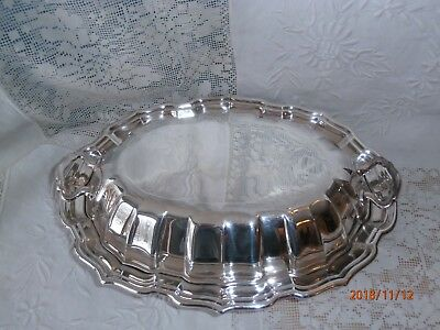 Reed & Barton Chippendale Covered Vegetable Serving Dish Silverplate Server 44