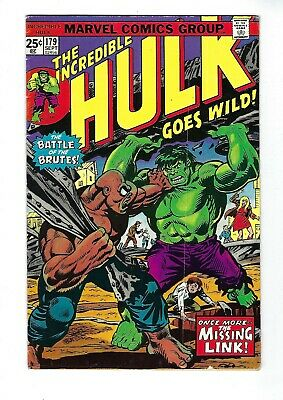 INCREDIBLE HULK # 179 (Cents Issue, SEPT 1974), FN-
