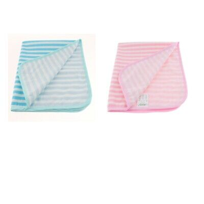 2 Pcs Terry Towel Reusable Washable Incontinence Bed Pad Bedwetting Underpad