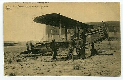 CPA - Carte Postale - Belgique - Evère - Champ d'Aviation - Un Avion - 1925 (M83