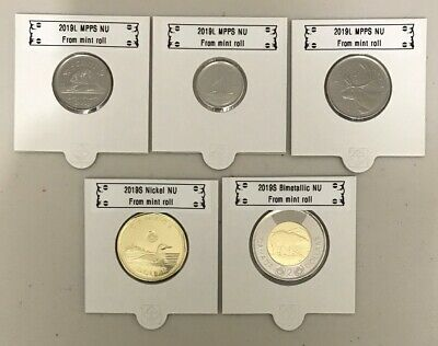 CANADA 2019 New Complete circulation set (UNC directly From mint roll)