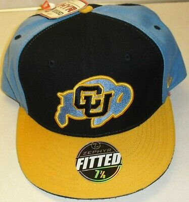 best cheap 2ffe3 ce1fc Colorado Buffaloes University Zephyr Fitted hat sz. 7 7 8 (New with Tags