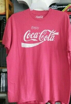 COCA COLA Brand Soda Pop Logo T-Shirt Men's Size Variations Women's