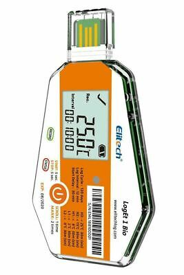 Elitech LogEt 1Bio Temperature Data Logger Single Use PDF Report 16000 Points