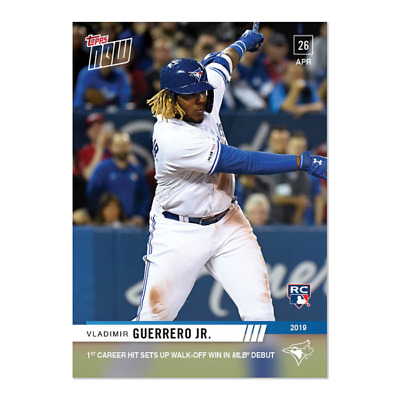 2019 Topps Now #137 Vladimir Guerrero Jr. 1St Career Hit In Mlb Debut