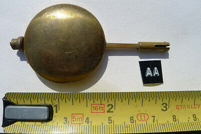 aa) Vintage MANTEL clock pendulum chiming/striking antique brass bob