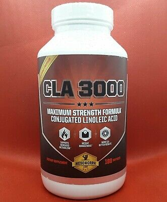 180 CLA 3000 Safflower Oil Maximum Potency Conjugated Linoleic Acid for Fat Loss