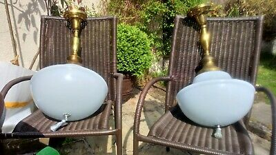 pair of Victorian lights very large