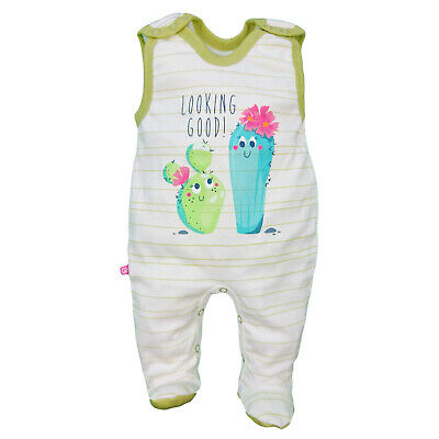 BNWT Baby Infant Girls/Boys Sleeveless Playsuit Babygrow 100% Cotton